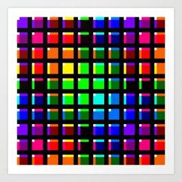 Crossing Color Bars Art Print