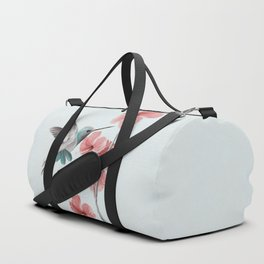 Hummingbird with Hibiscus Duffle Bag