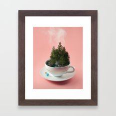 Hot cup of tree Framed Art Print