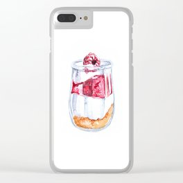 Granola watercolor Clear iPhone Case