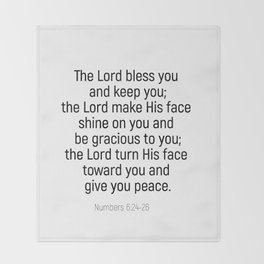 Numbers 6 24 #bibleverse #scriptures #blessing Throw Blanket