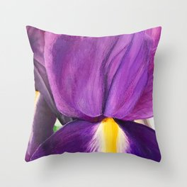 Iris I Throw Pillow