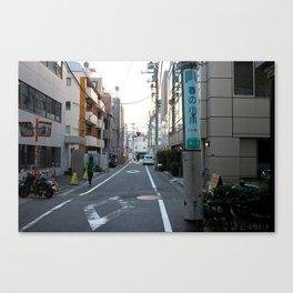 Sunset over Tokyo Alleys Canvas Print