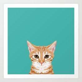 Tabby orange cat head cat breed gifts cute tabby cats must haves Art Print