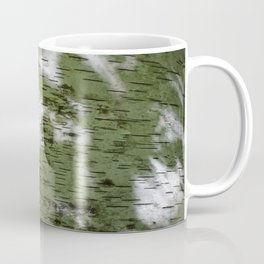 Birch Bark Pattern Green and White Wood Pattern Bring the Outdoors In Coffee Mug