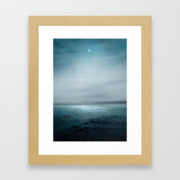 Sea Under Moonlight Framed Art Print