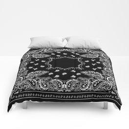Bandana Black & White Comforters