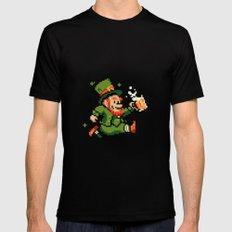 Leprechaun St. Patrick's Day MEDIUM Mens Fitted Tee Black