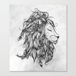 Poetic Lion B&W Canvas Print