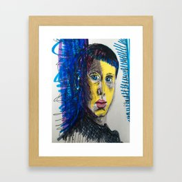The gaze Framed Art Print