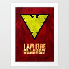 X-Men: Dark Phoenix - I am fire and life incarnate Art Print
