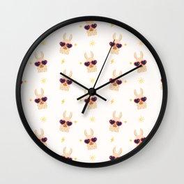 Hipster Llamas Wall Clock
