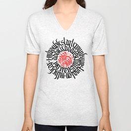 Calligraphy - Firestart Unisex V-Neck