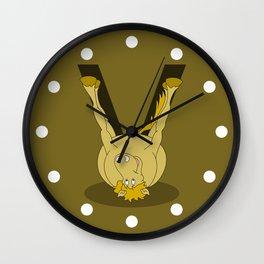 Monogram V Pony Wall Clock