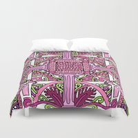 burlesque Duvet Covers featuring HELLENIC BURLESQUE by AZZURRO ARTS