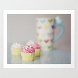 Coffee and Cupcakes Art Print