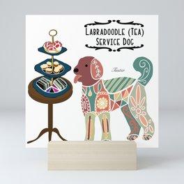 Labradoodle Tea Service Dog: Taster Mini Art Print