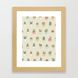 Cute Succulents Framed Art Print
