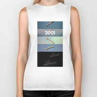 2001 a space odyssey Biker Tanks featuring 2001: a space odyssey by Lucas Preti