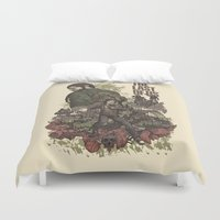 last of us Duvet Covers featuring The Last of Us Artwork by fardeen
