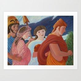 Four More Walking Deities Art Print