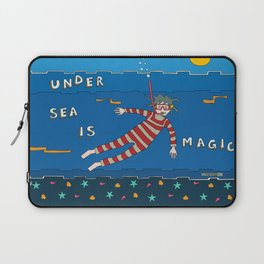Snorkeling Boy Laptop Sleeve