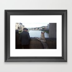 On the Ponte Vecchio, Florence Framed Art Print