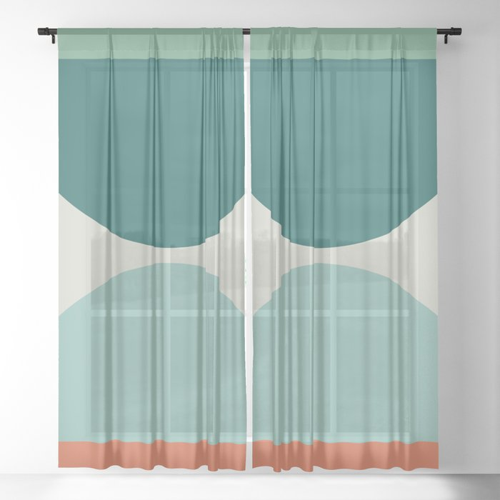 Abstract Geometric 20 Sheer Curtain