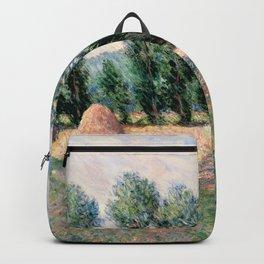 Haystacks by Claude Monet Backpack