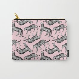 Tigers (Pink and White) Carry-All Pouch