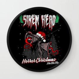 Siren Head horror Christmas Wall Clock