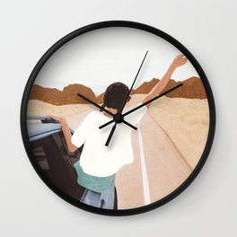 Spring Break Trip Wall Clock