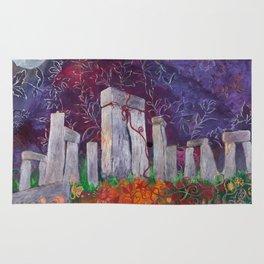Moonlit Henge - Stonehenge, England Rug