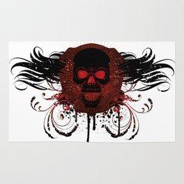 Grunge Evil Skull Rug