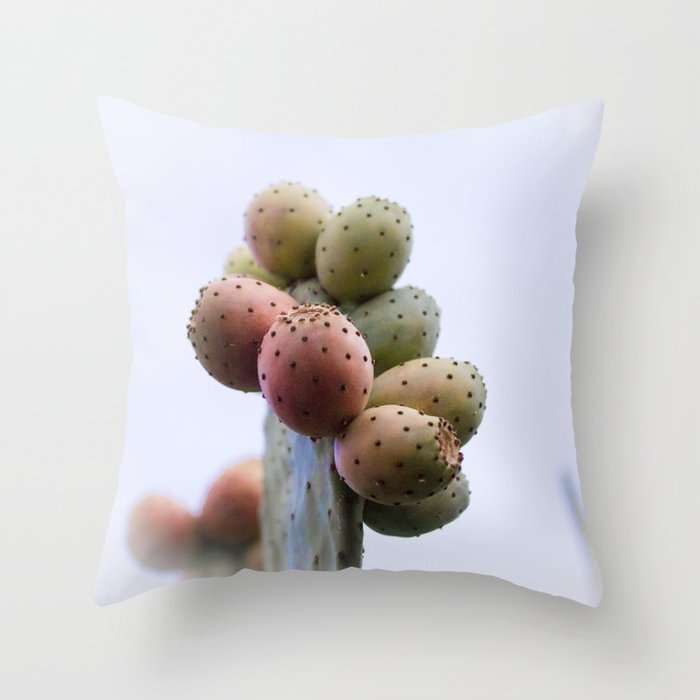 Prickly Pear Fruits Throw Pillow