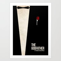 godfather Art Prints featuring The Godfather by Josh Goldman