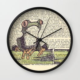 Frog-E-Doodle Wall Clock