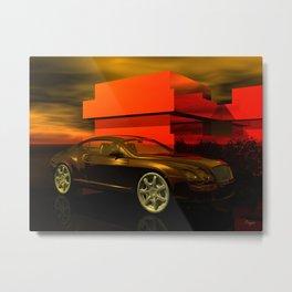 Bentley GT Metal Print