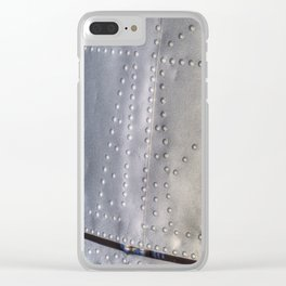 Aluminium Aircraft Skin Texture Clear iPhone Case