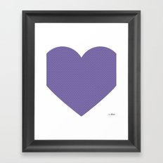 I love you this much... (purple) Framed Art Print