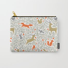 Woodland Animals Folk Carry-All Pouch