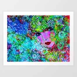 Floral Muse Art Print