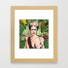 Frida con Amigos Gerahmter Kunstdruck