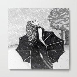 Feel the Rain Metal Print