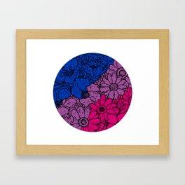 Bisexual flowers Framed Art Print