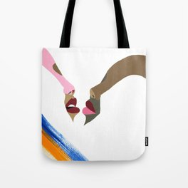 Two People Tote Bag