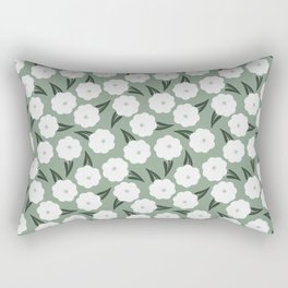 In the meadow   white and sage  Rectangular Pillow
