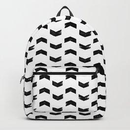 Chevron Pattern Black & White Backpack