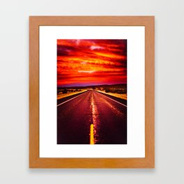 Desert Sunrise, Big Bend, Texas Framed Art Print