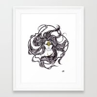 clover Framed Art Prints featuring Clover by Cassie Wolfe